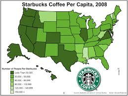 Cartogram Map Starbucks Mapping Dot Choropleth Graduated Circle And Cartogram
