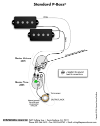 fender precision bass wiring diagram for billlawrence pj within p
