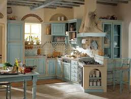 Kitchen Decor Ideas Pinterest Inspiration Idea Blue Country Kitchen Blue Country Kitchen Decor