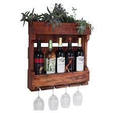 wall mounted wine rack with succulent planter western clear oil