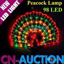 2017 peacock l 98 led string light colorful lights