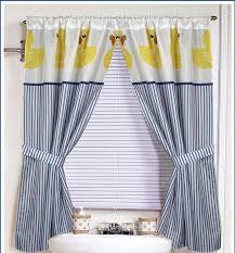 Bathroom Window Curtain by Amazon Com Yellow Rubber Ducky Window Curtain Home U0026 Kitchen