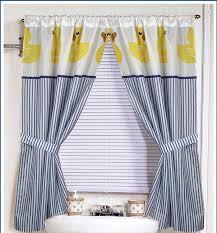 Bathroom Window Curtain by Amazon Com Yellow Rubber Ducky Window Curtain Home U0026 Kitchen