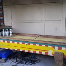 Antique Shuffleboard Table For Sale Best 1950s Jh Keeney U0026 Co Antique Shuffleboard Team Bowling