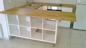 meuble cuisine a poser sur plan de travail séparation de cuisine avec kallax bidouilles ikea