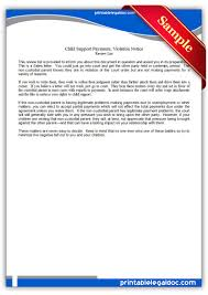 Child Support Letter Agreement Free Printable Child Support Payments Viiolation Notice Sample
