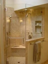 Walk In Shower Ideas For Small Bathrooms Corner Walk In Shower Ideas For Simple Small Bathroom With