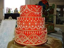 wedding design red and gold wedding cakes
