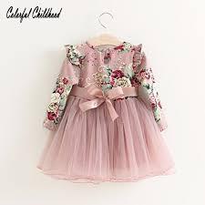toddler girls princess dress baby floral dresses little girls