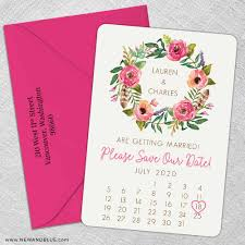 calendar save the date floral calendar save the date magnets