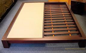 where to buy japanese bed frames choose finish dark walnut