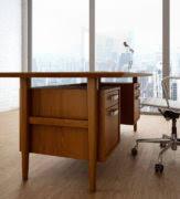 Retro Modern Desk Retro Modern Wood Private Office Desk Ambience Doré