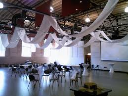 Wedding Ceiling Draping by Ceiling Draping And Patio Lights Hung In The Cannon Centre Greer