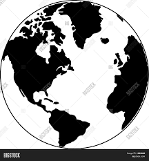 Map Of The World Black And White by Vector Map Of The World On The Globe Stock Vector U0026 Stock Photos