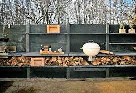 outdoor cooking spaces modular outdoor kitchen with shower urban gardens