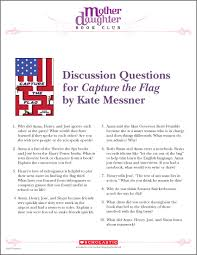 Why Is The Flag Discussion Questions For Capture The Flag By Kate Messner Mother