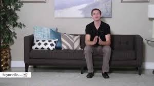 Armen Living Barrister Sofa by Armen Living Roxbury Sofa Product Review Video Youtube