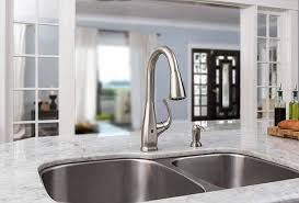 pfister selia kitchen faucet shop pfister selia stainless steel 1 handle pull deck mount