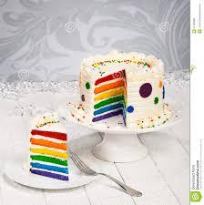 colorful slice of rainbow birthday cake stock photo image 40411653
