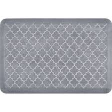 Trellis Kitchen Rug Wellness Mats Estates Trellis Grey With White Wash 36 In X 24 In