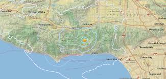 Map Of Northwest Us Earthquake Strikes Near Topanga And Malibu U2013 Daily News