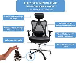 amazon com sleekform ergonomic adjustable office chair with