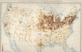 1820 Map Of United States by 1890 Population Distribution History U S Census Bureau