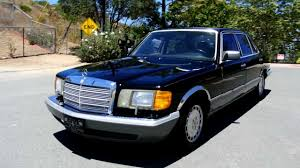1 owner 1986 mercedes benz 560sel black clean youngtimer big body