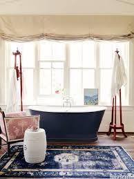Rugs In Bathroom Trend Alert Rugs In The Bathroom Navy Rug Tubs And Bath