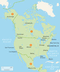 Canada On A Map Map Of North America Countries Rough Guides At Show Me A