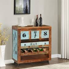 Reclaimed Wood Bar Cabinet The Numbers Reclaimed Wood Wine Rack Bar Cabinet