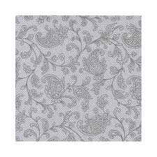 napkins royal collection 1 4 fold 25 cm x 25 cm grey ornaments