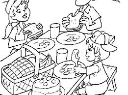 picnic food coloring page with coloring pages snapsite me
