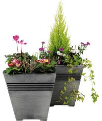 buy milano square planter pack of 2 at argos co uk your online
