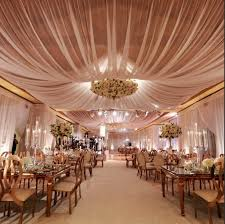 wedding draping fabric ceiling fabric draping 5 bloom box designs wedding reception