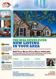real estate flyers templates free real estate flyer templates pageprodigy u2013 print for 1