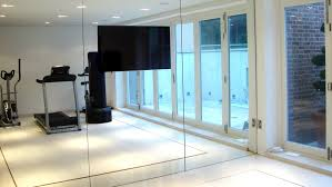 superb wall mirrors for workout room wonderful white brown wood