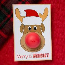 eos cards with rudolph the reindeer chica and jo