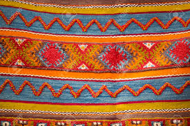 Morroco Style by Colourful African Moroccan Style Rug Surface Close Up Berber