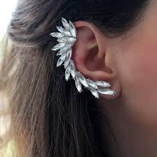 ear cuff extravagant rhinestone ear cuff by rabal notonthehighstreet