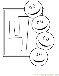 numbers 4 coloring pages 7 coloring free numbers