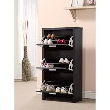 ideas to decorate your home opulent concept of nice covered shoe rack made of wooden material