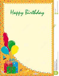 happy birthday postcards postcard happy birthday stock illustration illustration of