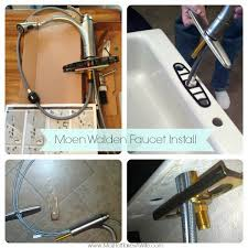 moen kitchen faucets installation moen walden kitchen faucet install review and a moen giveaway