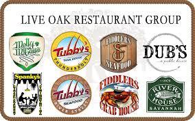 restaurant gift card live oak store gift card 25 00
