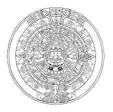 mayan calendar how to draw mayan calendar page 2 coloring