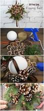 diy kissing ball with pine cones crafts unleashed pine cone