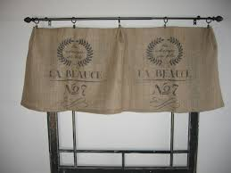Burlap Country Curtains Cozy French Valances Window Treatment 8 French Country Window
