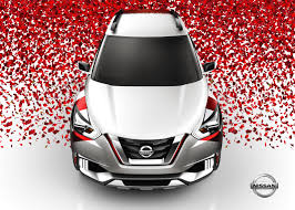 nissan kicks 2017 red nissan kicks concept given a carnival paint scheme in brazil