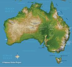 Map Of Oceania Topographic Map Of Australia Nations Online Project